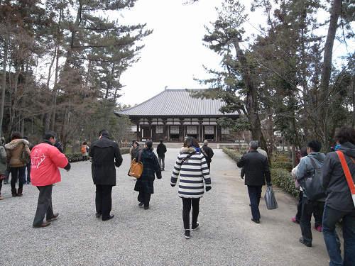唐招提寺「礼堂」特別公開@奈良うまし冬めぐり-04