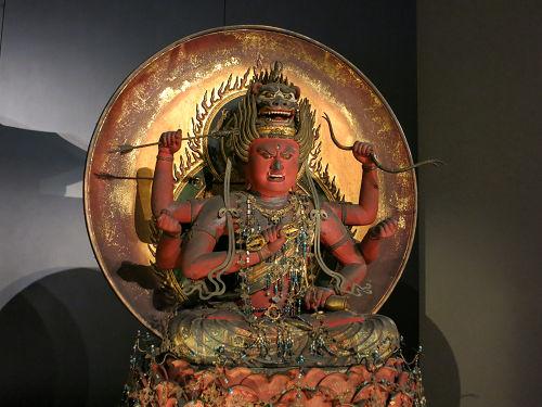 内山永久寺伝来の『愛染明王坐像』@東京国立博物館