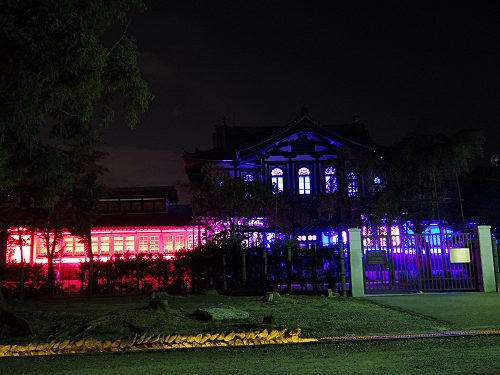 光のオルゴールinライトアッププロムナード@仏教美術資料研究センター-11