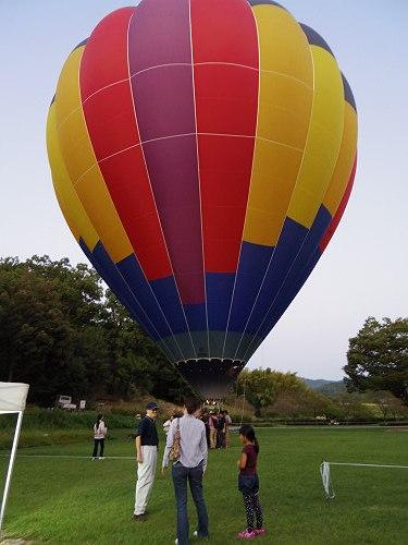『熱気球に乗って光の地上絵を見よう!』@飛鳥光の回廊-02