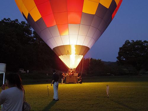 『熱気球に乗って光の地上絵を見よう!』@飛鳥光の回廊-06