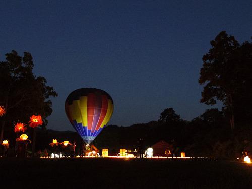 『熱気球に乗って光の地上絵を見よう!』@飛鳥光の回廊-11