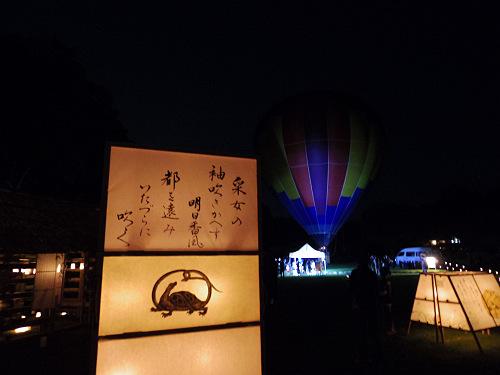 『熱気球に乗って光の地上絵を見よう!』@飛鳥光の回廊-12