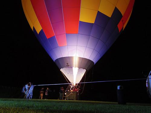 『熱気球に乗って光の地上絵を見よう!』@飛鳥光の回廊-16