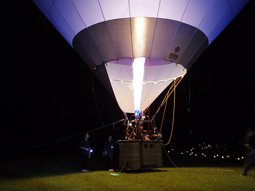 『熱気球に乗って光の地上絵を見よう!』@飛鳥光の回廊-18