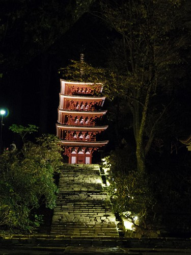 室生寺『国宝 五重塔と紅葉ライトアップ』@宇陀市-19