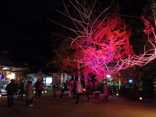 紅葉ライトアップ『等彌神社』@桜井市-16