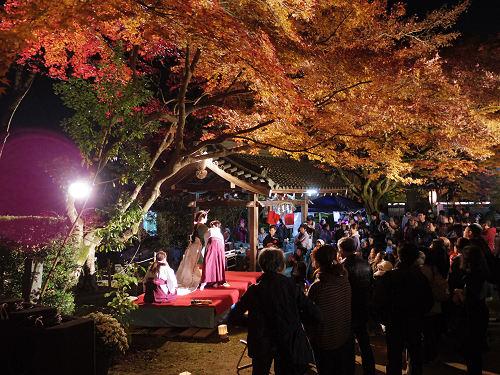 紅葉ライトアップ『等彌神社』@桜井市-19