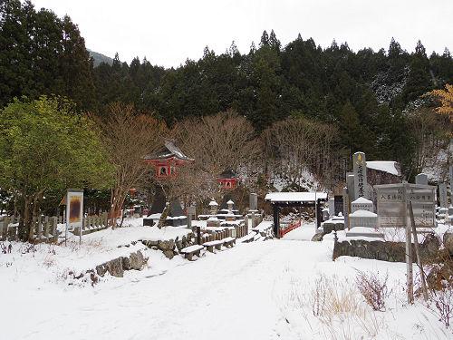 【写真】洞川の冬の初めの雪景色@天川村-01