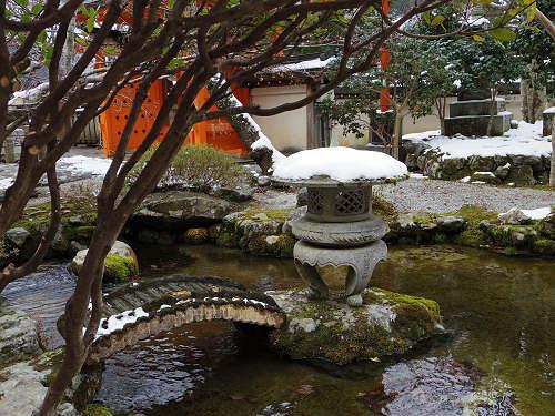 【写真】洞川の冬の初めの雪景色@天川村-13