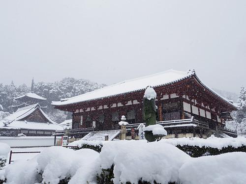 當麻寺の雪景色(西南院)-01
