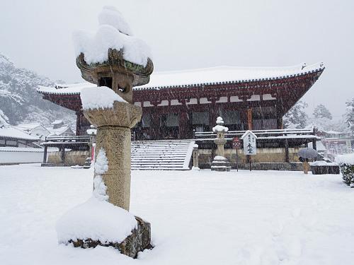 當麻寺の雪景色(西南院)-03