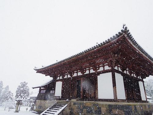 當麻寺の雪景色(西南院)-04
