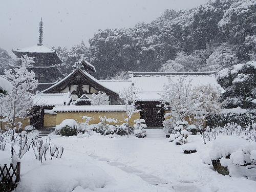 當麻寺の雪景色(西南院)-07