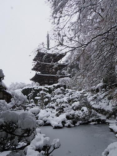 當麻寺の雪景色(西南院)-13