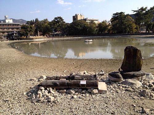 18年ぶり!水を抜いた『猿沢池』を観てきました@奈良市