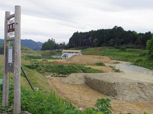 『キトラ古墳』周辺の工事の様子-05