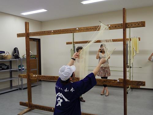 そうめん手延べ体験@三輪そうめん山本(桜井市-09