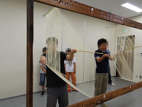 そうめん手延べ体験@三輪そうめん山本(桜井市-14