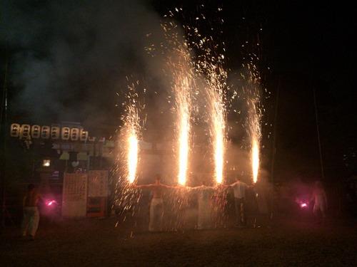 手筒花火から巨大火柱!『風鎮大祭』@龍田大社(三郷町)