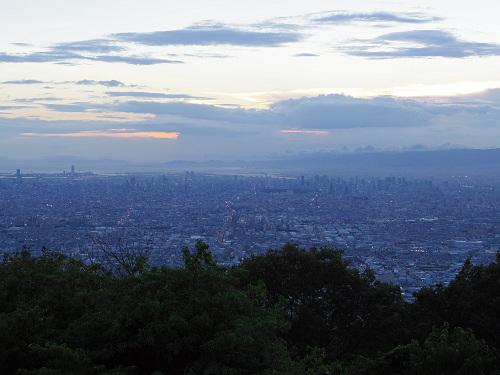 大阪平野の夜景@生駒山上遊園地-04