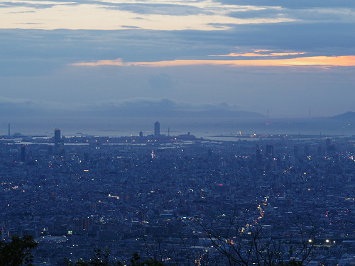 大阪平野の夜景@生駒山上遊園地-06