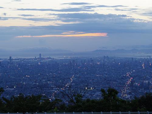 大阪平野の夜景@生駒山上遊園地-07