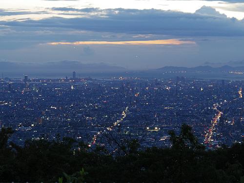 大阪平野の夜景@生駒山上遊園地-08
