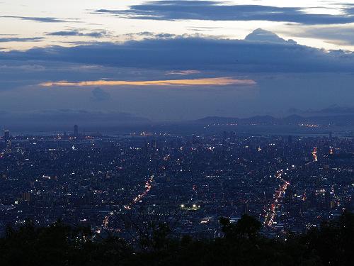 大阪平野の夜景@生駒山上遊園地-09