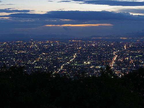 大阪平野の夜景@生駒山上遊園地-10