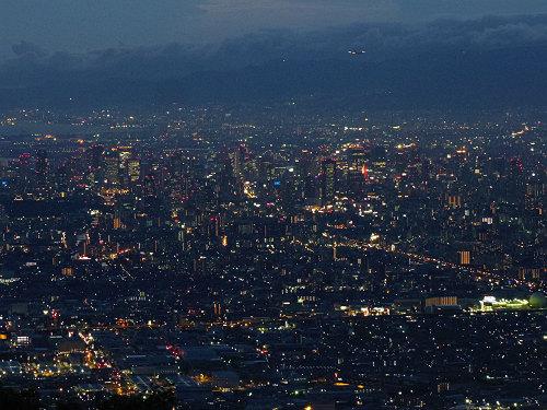 大阪平野の夜景@生駒山上遊園地-11