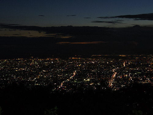 大阪平野の夜景@生駒山上遊園地-13
