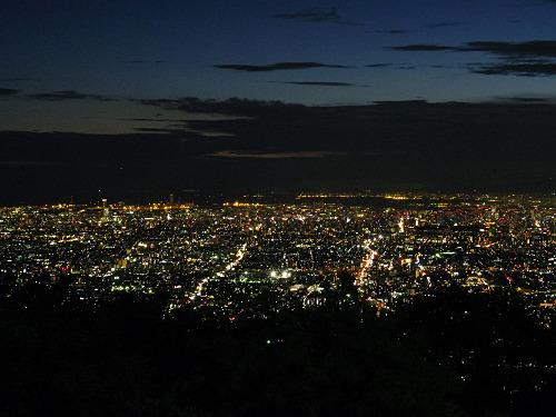 大阪平野の夜景@生駒山上遊園地-14