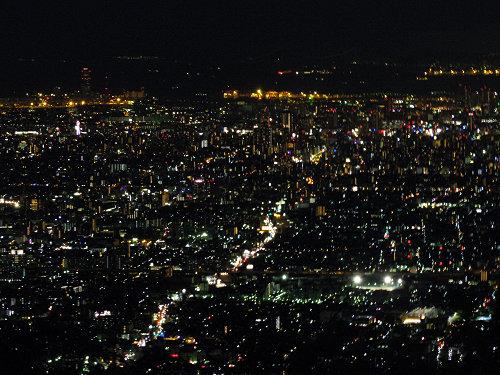 大阪平野の夜景@生駒山上遊園地-15