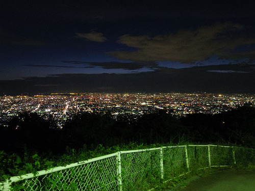 大阪平野の夜景@生駒山上遊園地-16