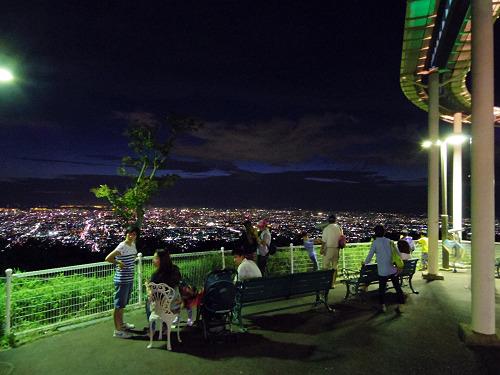 大阪平野の夜景@生駒山上遊園地-17