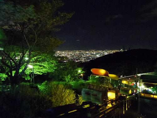 大阪平野の夜景@生駒山上遊園地-28