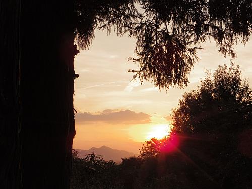 檜原神社と井寺池からの夕陽@桜井市-06