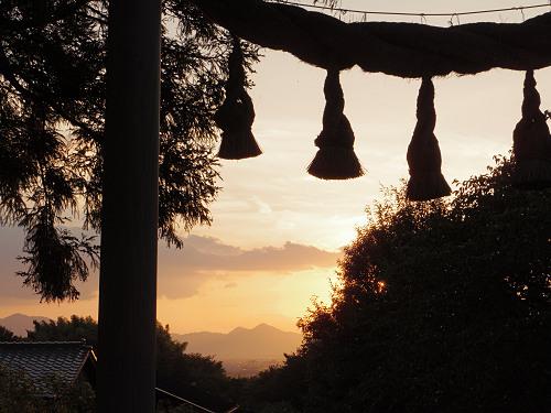 檜原神社と井寺池からの夕陽@桜井市-07