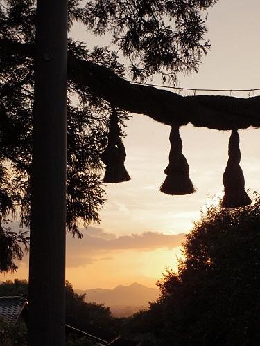檜原神社と井寺池からの夕陽@桜井市-08