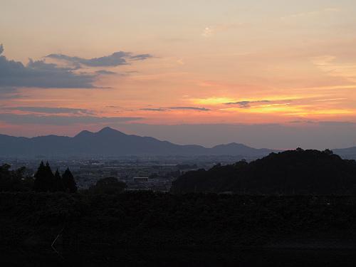 檜原神社と井寺池からの夕陽@桜井市-11