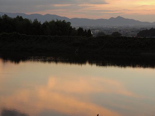 檜原神社と井寺池からの夕陽@桜井市-12