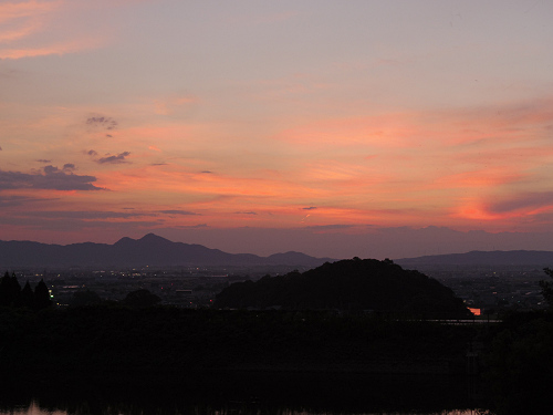 檜原神社と井寺池からの夕陽@桜井市-13
