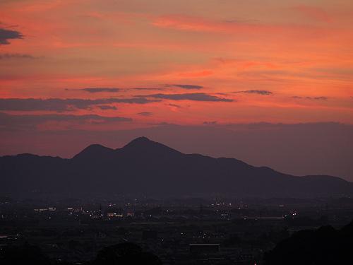 檜原神社と井寺池からの夕陽@桜井市-14