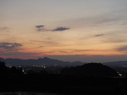 檜原神社と井寺池からの夕陽@桜井市-17