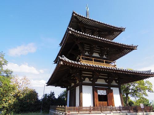 三重塔とコスモス『法起寺』@斑鳩町-08