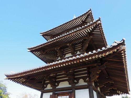 三重塔とコスモス『法起寺』@斑鳩町-09