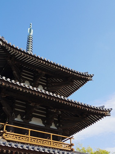 三重塔とコスモス『法起寺』@斑鳩町-13