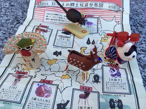 郷土玩具フィギュアのガチャ『日本全国まめ郷土玩具蒐集』
