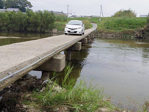 大和川に遺る沈下橋(沈み橋)『大城橋』@河合町・斑鳩町